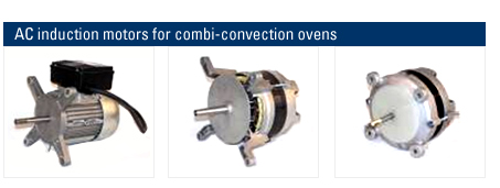AC Induction motors for Combi-Convection Ovens